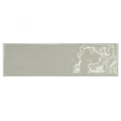 Carrelage uni brillant vert 6.5x20cm COUNTRY MIST GREEN 21540 - 0.5m² Equipe