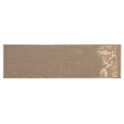 Carrelage uni brillant taupe 6.5x20cm COUNTRY TOBACCO 0.5m² Equipe