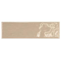 Carrelage uni brillant beige 6.5x20cm COUNTRY VISON 0.5m² Equipe