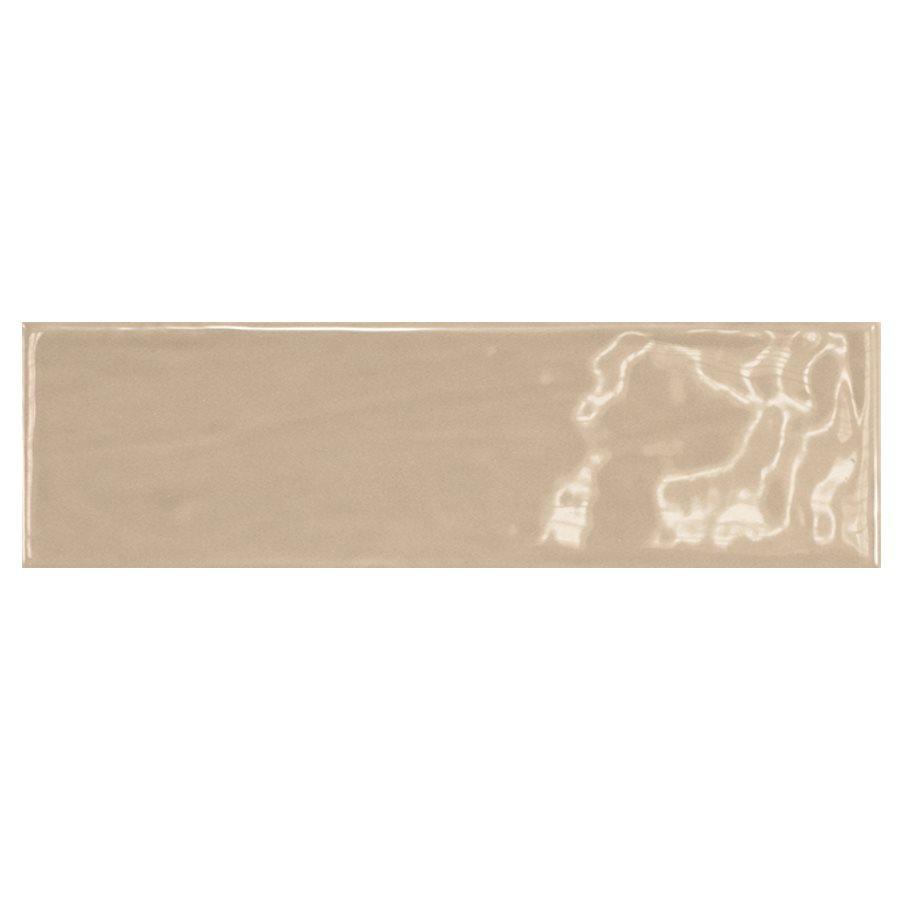 Carrelage uni brillant beige 6.5x20cm COUNTRY VISON 0.5m² - zoom
