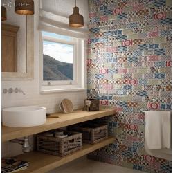 Carrelage METRO décor ciment PATCHWORK Colours 7.5x15 cm 20922 - 0.5m² Equipe