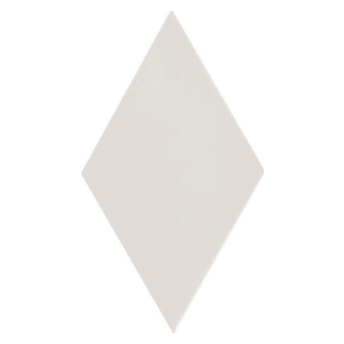 Carrelage losange diamant 14x24cm blanc cassé lisse ref. 22688 RHOMBUS WHITE MAT - 1m² Equipe