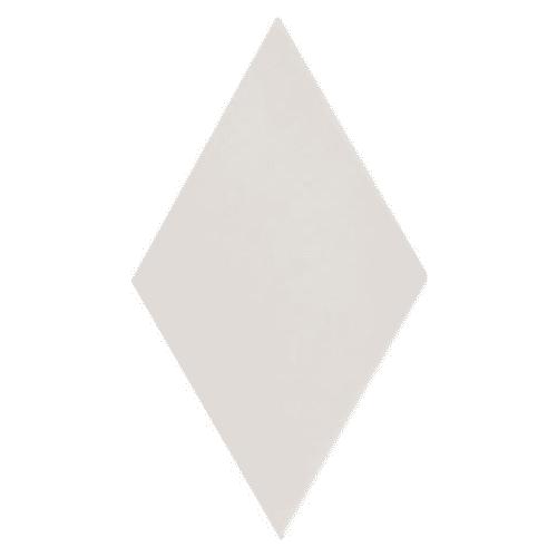 Carrelage losange diamant 14x24cm blanc cassé lisse ref. 22688 RHOMBUS WHITE MAT - 1m² - zoom