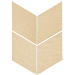 Carrelage losange diamant 14x24cm crème relief ref. 21291 RHOMBUS MAT - 1m² Equipe