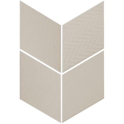 Carrelage losange diamant 14x24cm gris clair relief ref. 21290 RHOMBUS MAT - 1m² - zoom