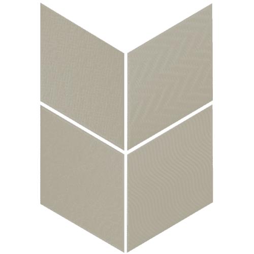Carrelage losange diamant 14x24cm vert relief ref. 21311 RHOMBUS MAT - 1m² - zoom