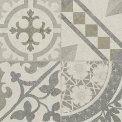 Carrelage Gris/Beige imitation décor carreau ciment 45x45 cm RIVIERA PEARL - 1.4m² Baldocer