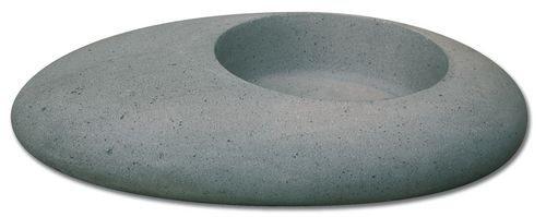 Vasque grise forme galet basalt - zoom