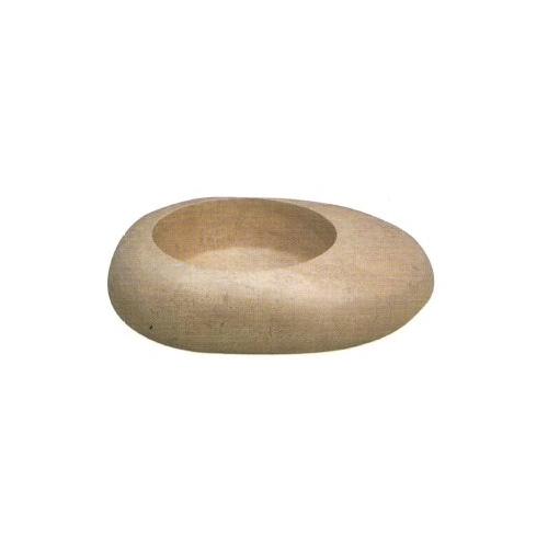 Vasque en pierre forme galet travertin noce SF
