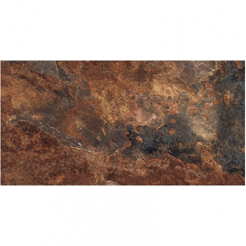 Carrelage effet pierre gris foncé nuancé ARDESIA NATURAL 32x62.5 cm R9 - 1m² GayaFores