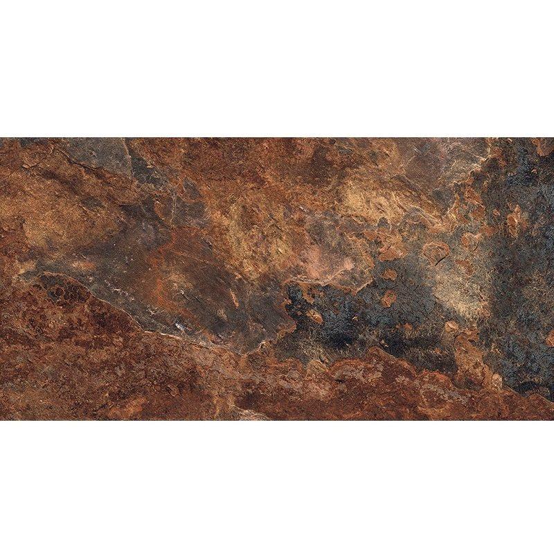 Carrelage effet pierre gris foncé nuancé ARDESIA NATURAL 32x62.5 cm R9 - 1m² - zoom