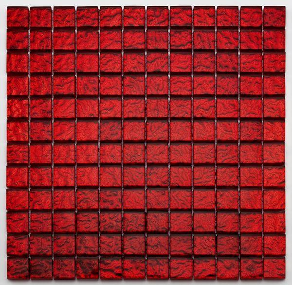 Mosaique salle bain Glasmosaik rouge 2.3x2.3 cm - 30x30 cm - unité - zoom