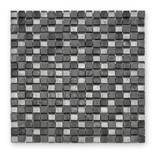 Mosaique mix de gris et argent Fineline GL-12007 1.5x1.5 cm - 29.8x29.8 - unité Barwolf
