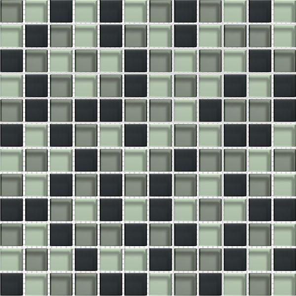 Mosaique salle de bain Glasmosaik graffitmix 2.3x2.3 cm - 30x30 - unité - zoom