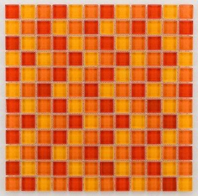 Mosaique salle de bain Glasmosaik orange 2.3x2.3 cm - 30x30 - unité - zoom