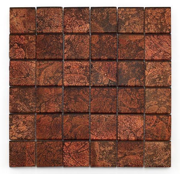 Mosaique salle de bain Glasmosaik rouge 4.8x4.8 cm - 30x30 - unité - zoom