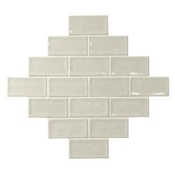 Carrelage effet zellige blanc ivoire 7.5x15 GLAMOUR NEUTRO - 0.45m² El Barco