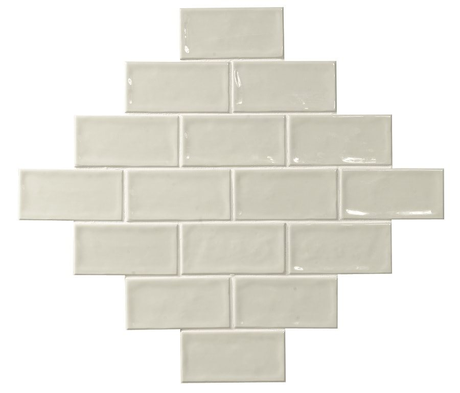 Carrelage effet zellige blanc ivoire 7.5x15 GLAMOUR NEUTRO - 0.45m² - zoom