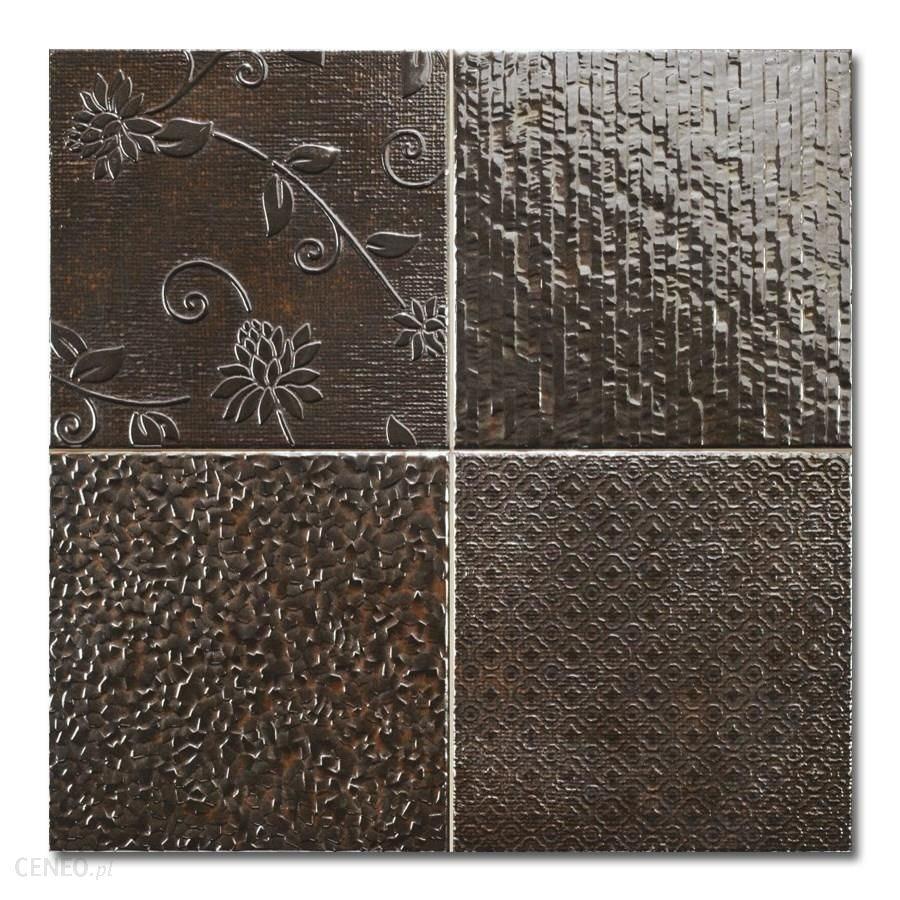 Carrelage style ciment faience précieuse effet metal GLINT ANTRACITA 44x44 cm - 1.37m² - zoom