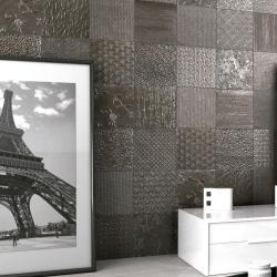Carrelage style ciment faience précieuse effet metal GLINT ANTRACITA 44x44 cm - 1.37m² Realonda
