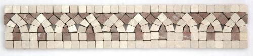 Frise pierre Marbre Beige / Marbre Café GM110 30.5x6 cm - unité - zoom