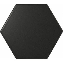 Faience SCALE HEXAGON BLACK MATT 21909 12.4x10.7cm - 0.61m² Equipe