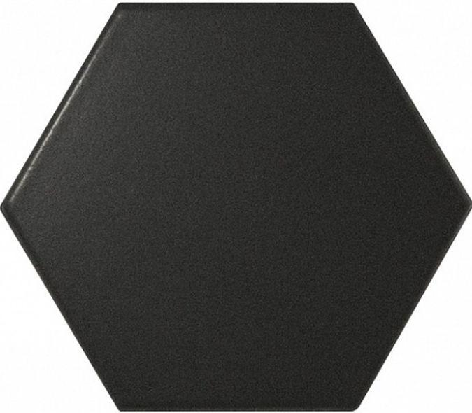 Faience SCALE HEXAGON BLACK MATT 21909 12.4x10.7cm - 0.61m² - zoom
