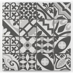 Mosaique grès cérame patchwork blanc white mosaïque 31.8x31.8cm KEG-14072 - unité Barwolf