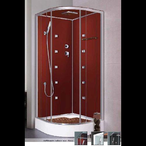 Cabine de douche complète Noire - zoom