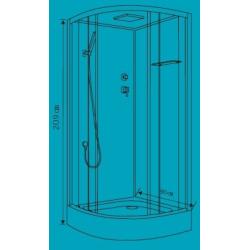 Cabine de douche complète Noire Ottofond