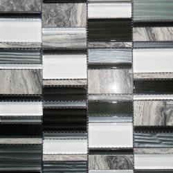 Malla Etrusco Negro - Mosaique en verre Decora