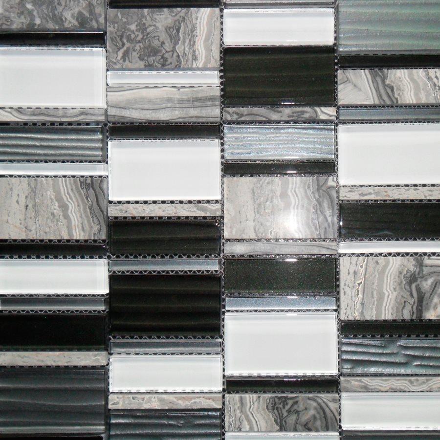 Malla Etrusco Negro - Mosaique en verre - zoom