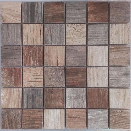 Malla Forest Mix - Mosaique imitation bois - grès cérame 29x29cm - unité Decora