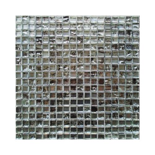 Malla Graffiti Silver - Mosaique en verre 30x30cm - unité Decora