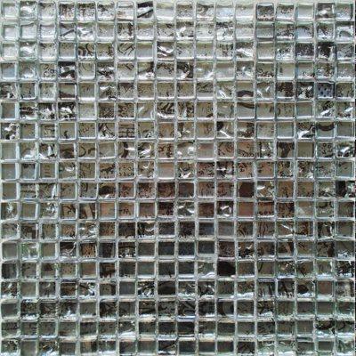 Malla Graffiti Silver - Mosaique en verre 30x30cm - unité - zoom