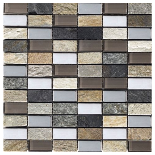 Mosaique Malla Myca - verre métal marbre 30x30 - boite de 0.72m² Decora