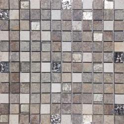 Malla Urales Gris - Mosaique imitation bois - grès cérame 30x30cm - unité Decora
