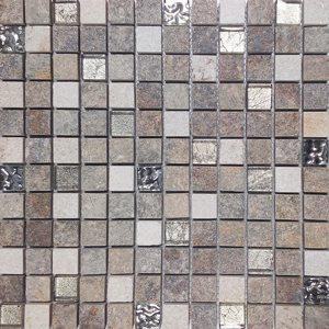 Malla Urales Gris - Mosaique imitation bois - grès cérame 30x30cm - unité - zoom
