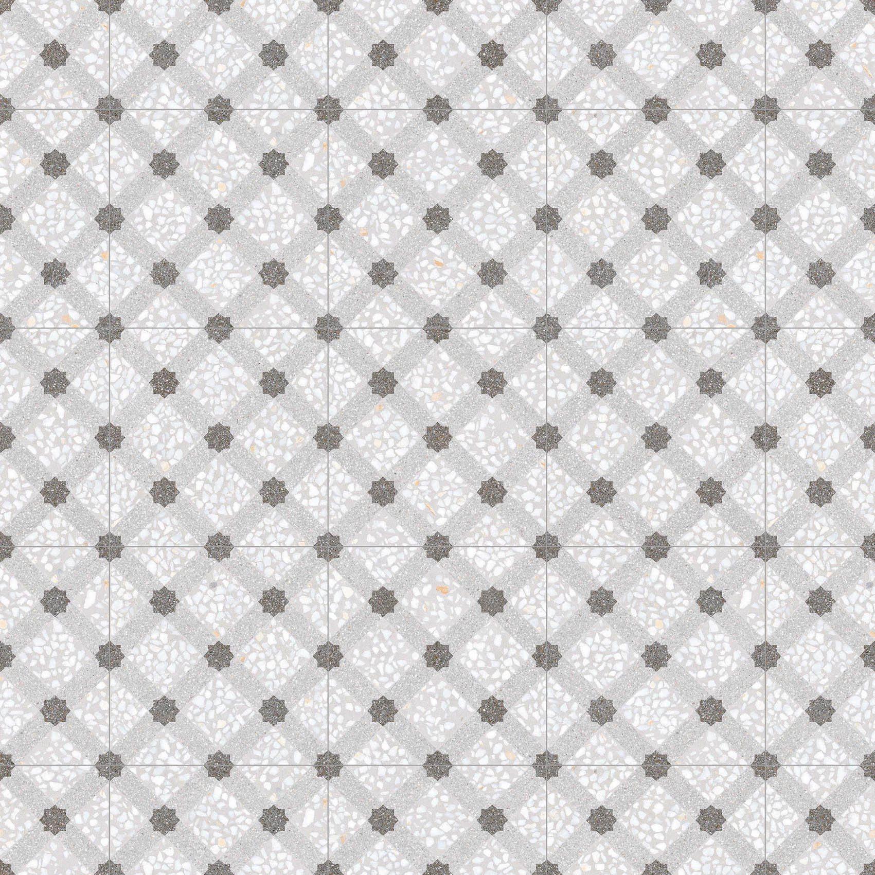 Carrelage imitation ciment 30x30 cm Mancini Humo anti-dérapant R10 - 0.99m² - zoom