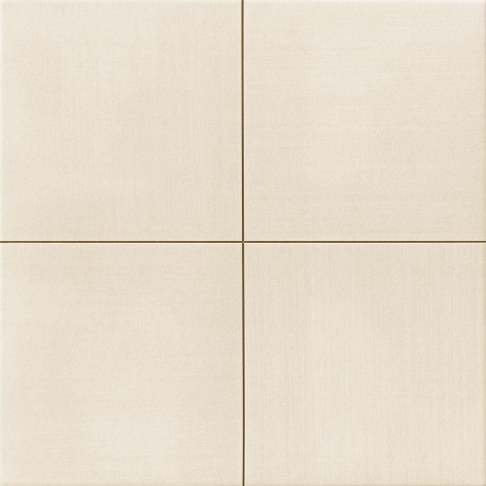 Carrelage uni blanc cassé beige MOON White 44x44 cm - 1.37m² - zoom