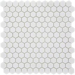 Mosaique Mini tomette hexagonale PURE23 25x13mm blanc mat - 0.85m² Ston
