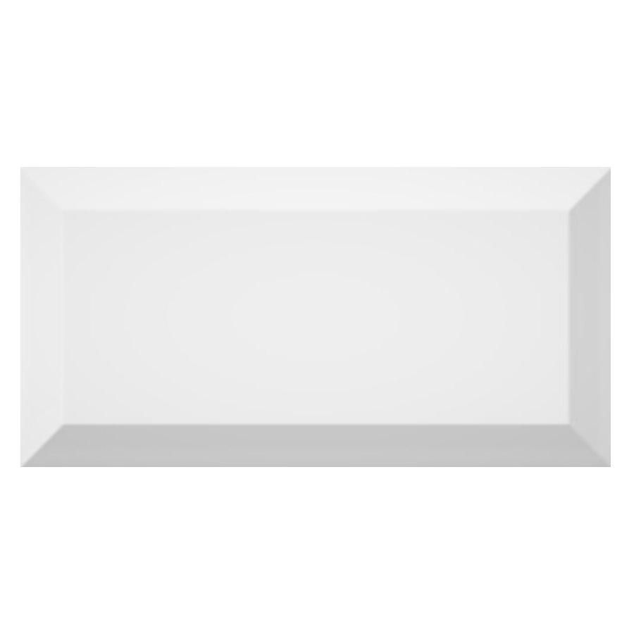 Carrelage métro biseauté brillant blanc 10x20cm MUGAT BLANCO - 1m² - zoom