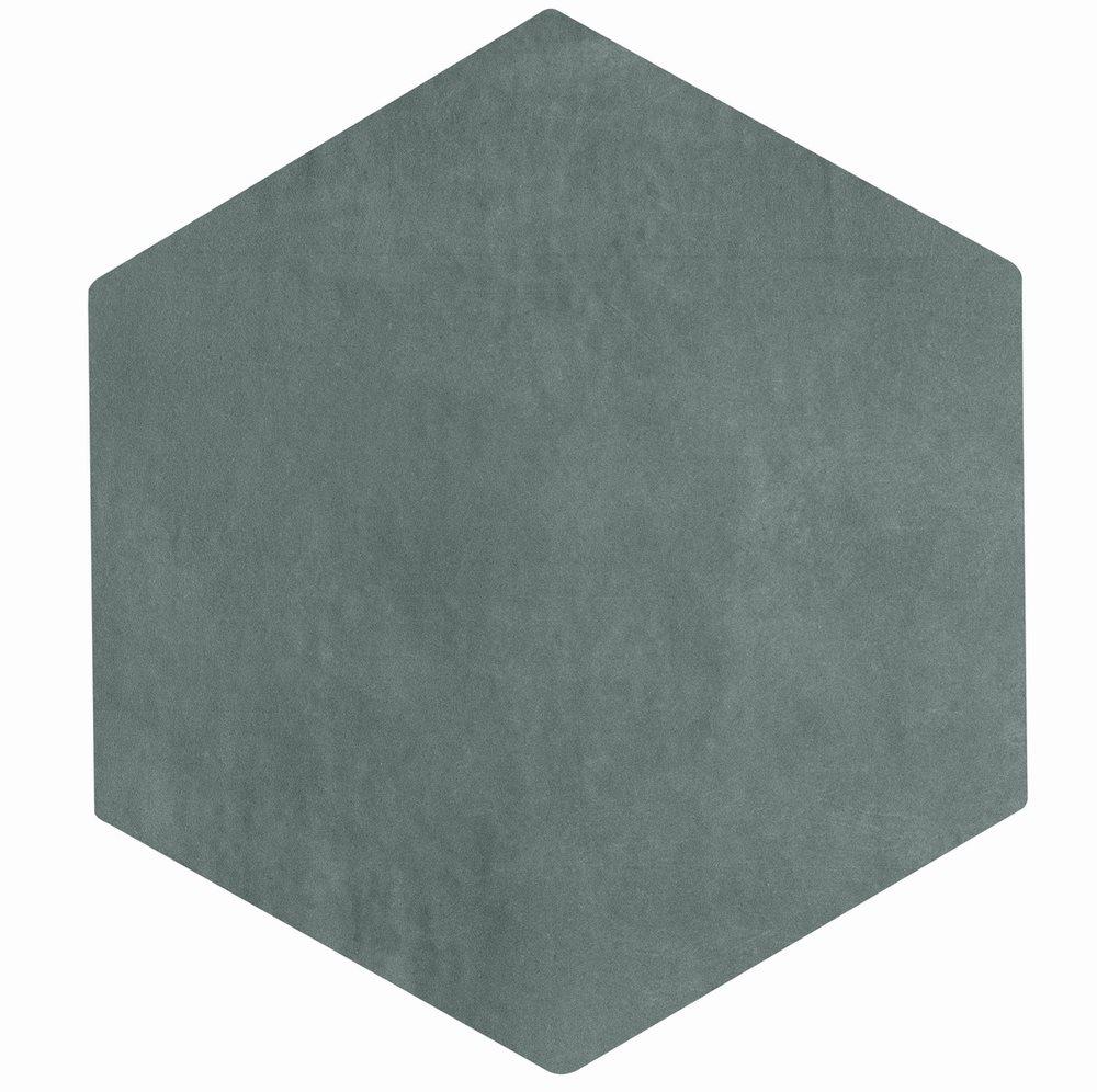 Carrelage tomette gris bleu 22.5x26cm CONCRET PARIS - 0.66m² - zoom