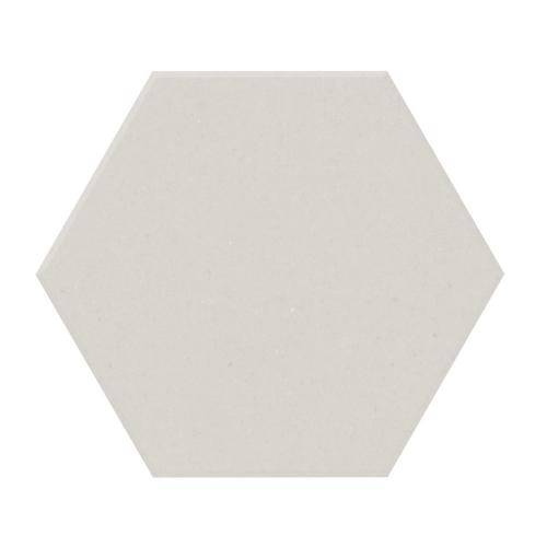 Carrelage tomette design unie Blanc cassé FARINA 15x17cm NEW PANAL - 0.5m² Natucer
