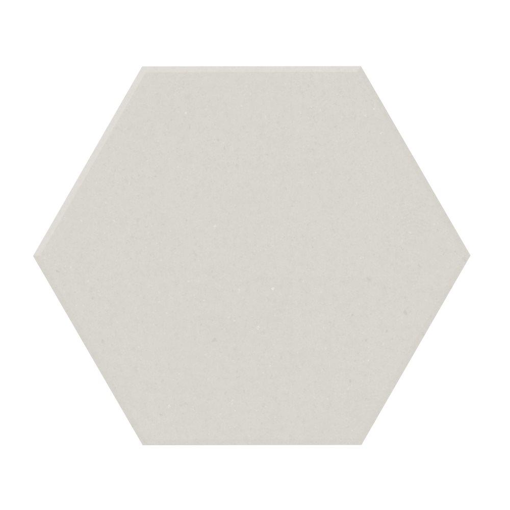 Carrelage tomette design unie Blanc cassé FARINA 15x17cm NEW PANAL - 0.5m² - zoom