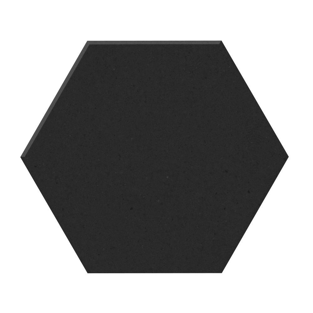 Carrelage tomette design unie Noir carbone CARBO 15x17cm NEW PANAL - 0.5m² - zoom