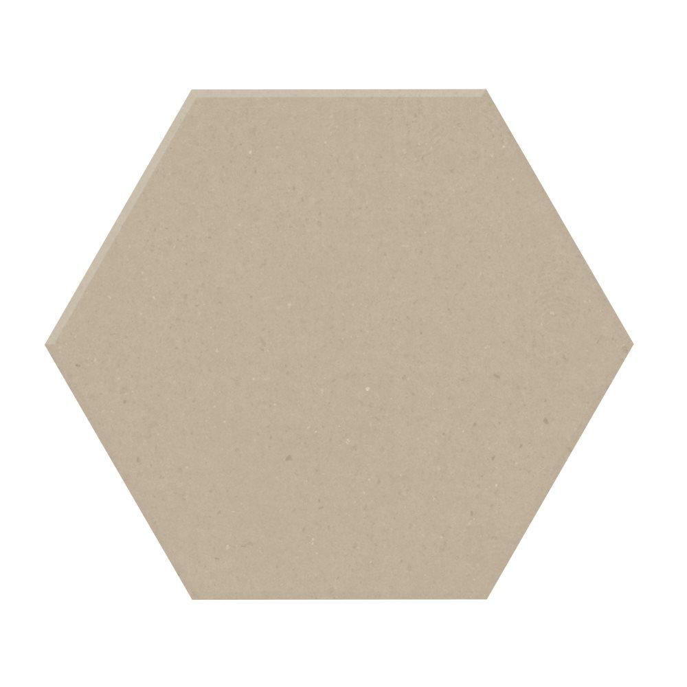 Carrelage tomette design unie Beige CREAM 15x17cm NEW PANAL - 0.5m² - zoom