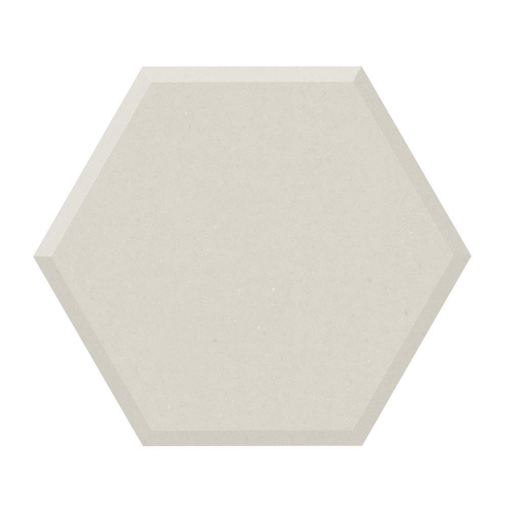 Carrelage tomette design unie Blanc cassé FARINA BISEAUTÉ 15x17cm NEW PANAL - 0.5m² - zoom