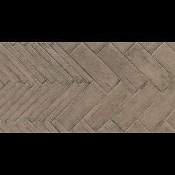 Carrelage RETRO imitation parquet vintage style chevron point de Hongrie 7x60 cm R11 - 1m² Natucer