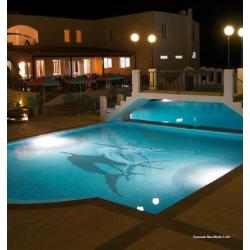 Décor mosaique piscine espadon marlin bleu 150x233 cm - unité Onix